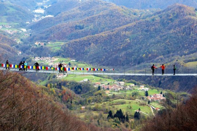 ponte tibetano valli pasubio